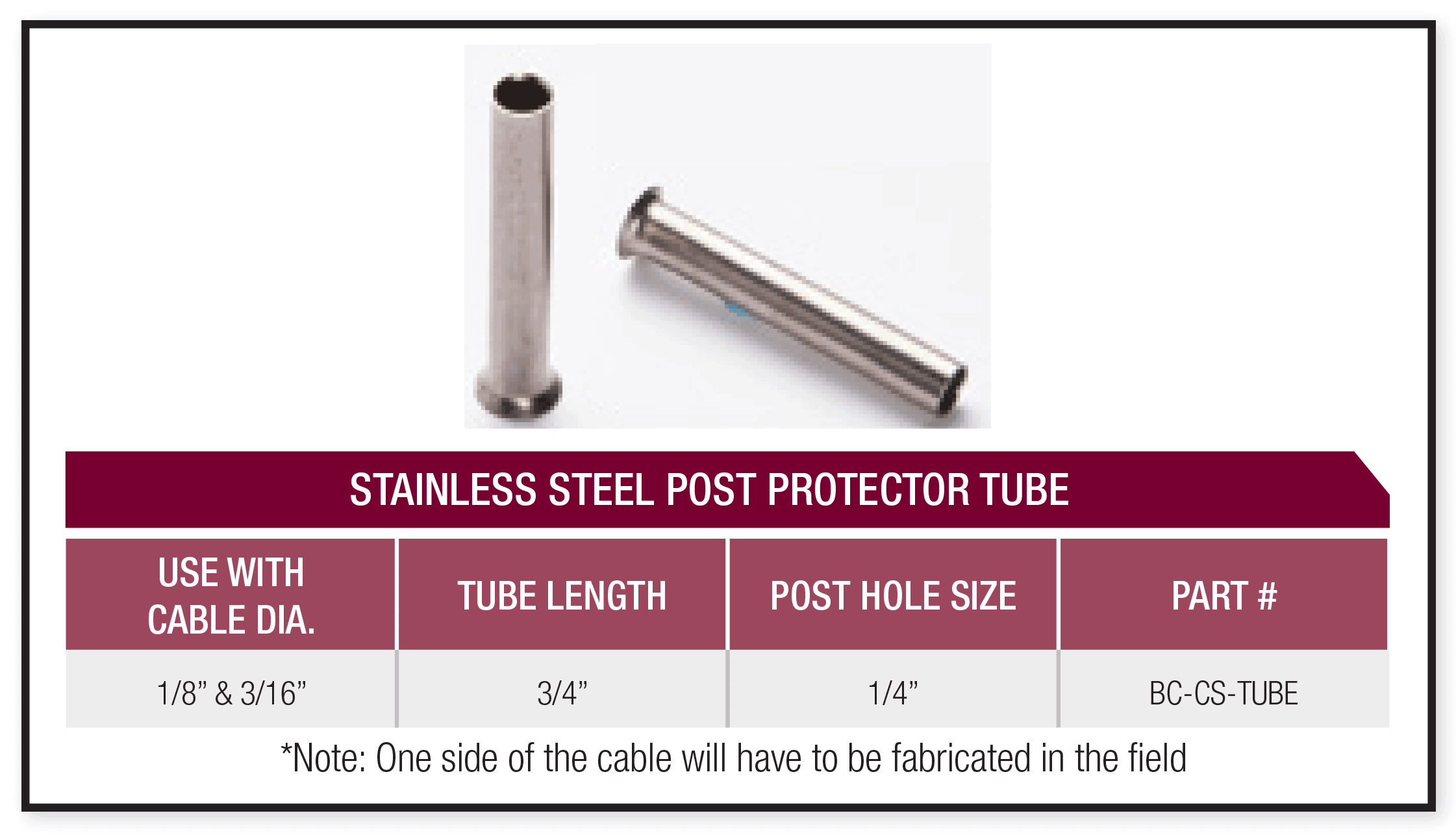 stainless steel post protector tube